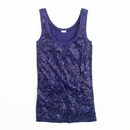 Factory scattered sequin tank