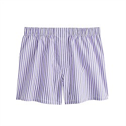 Purple wide-stripe boxers