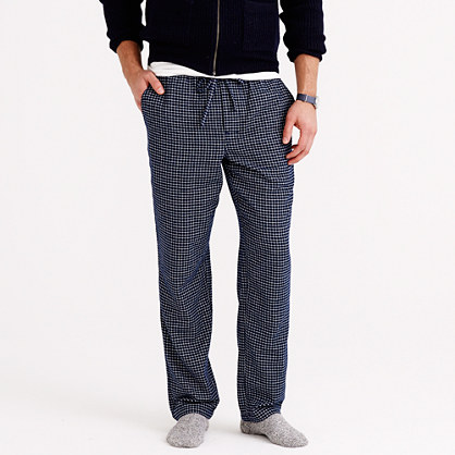 Flannel sleep pant in navy check