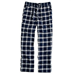 Flannel sleep pant in bedford blue plaid