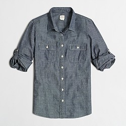 Factory two-pocket chambray shirt