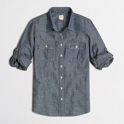 Buy shirts & clothing - Factory two-pocket chambray shirt