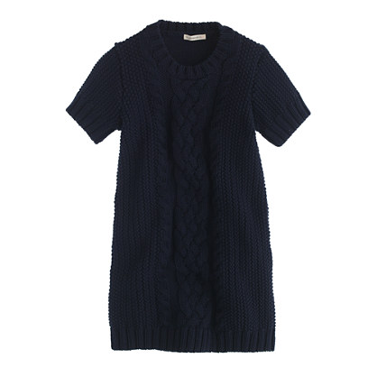 Girls' cable-knit sweater-dress