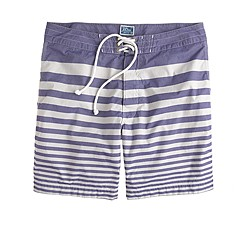"7"" board shorts in nautical stripe"