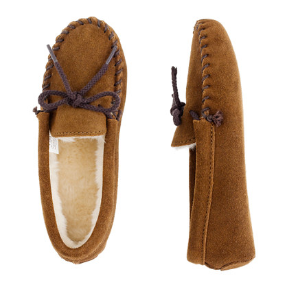 Kids' Minnetonka® lined moccasin slippers