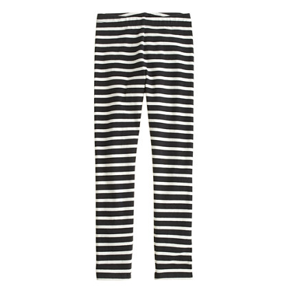Girls' everyday leggings in bold stripe