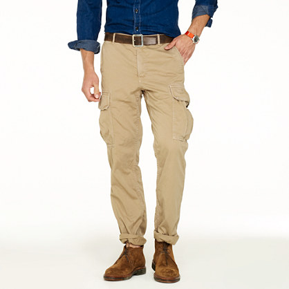 Sun-faded cargo pant in urban slim fit
