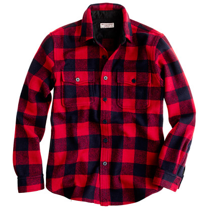 Wallace & Barnes buffalo check CPO shirt