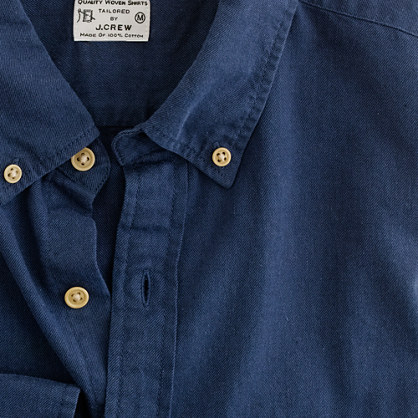 Brushed twill utility shirt