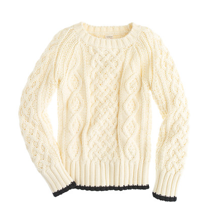 Boys' fisherman's cotton cable sweater
