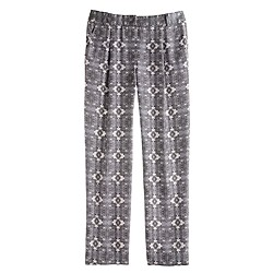 Collection silk café capri in pewter paisley