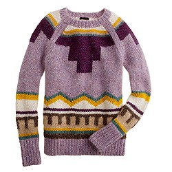 Collection handknit intarsia sweater