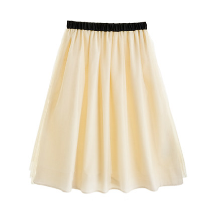 Girls' tippy-toe tulle long skirt