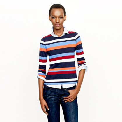 Colorblock top in stripe