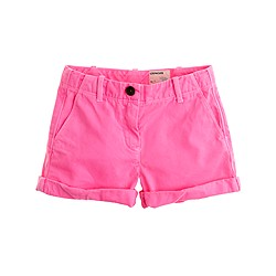 Girls' cuffed chino short