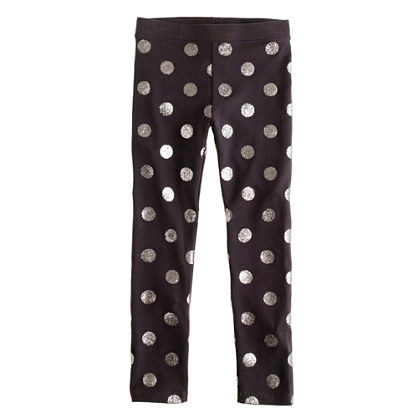 Girls' everyday leggings in glitter dot