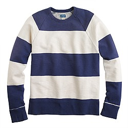 Sunwashed fleece sweatshirt in stripe
