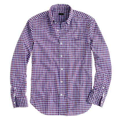 Slim Secret Wash shirt in vibrant check