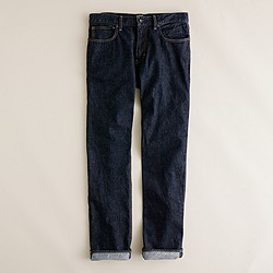Slim-straight jean in resin crinkle wash