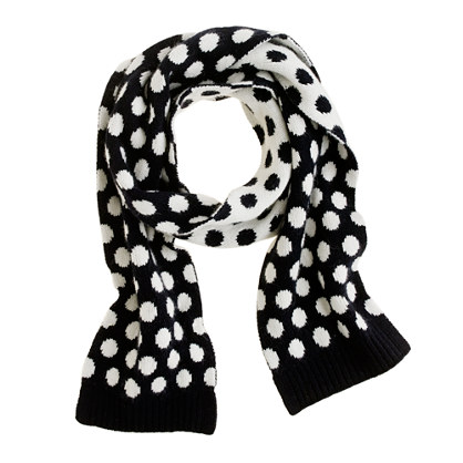 Girls' dot scarf
