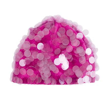 Girls' paillette hat