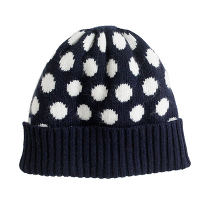 Girls' dot hat