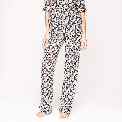 Collection silk ribbon bow-print pajama pant