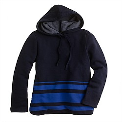 Engineered-stripe hoodie