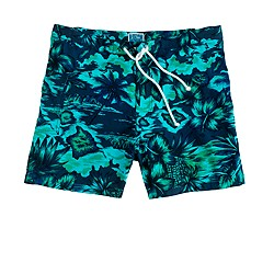 "5"" Portofino trunks in floral Hawaiian vista"
