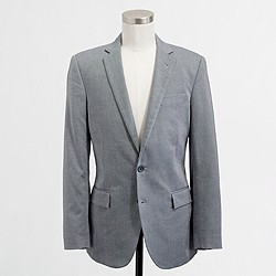 Factory Thompson two-button suit jacket with double vent in oxford cloth
