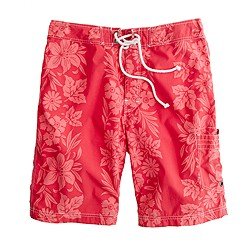 "9"" board shorts in floral hilo"