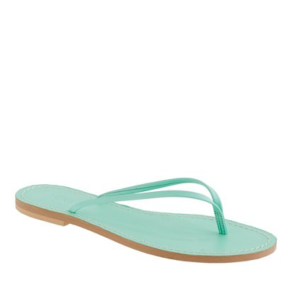 Leather capri sandals with colored footbed