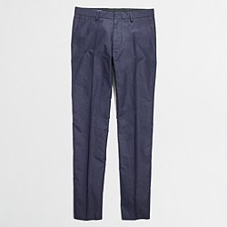 Factory Thompson suit pant in cotton piqué