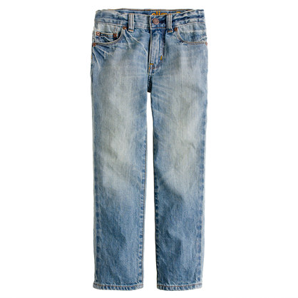 Boys' slim jean in bleach out wash