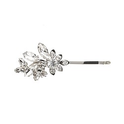 Pinwheel crystal hair pin