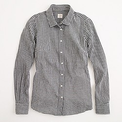 Factory classic button-down shirt in suckered gingham