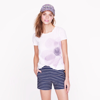 Purple poppy tee