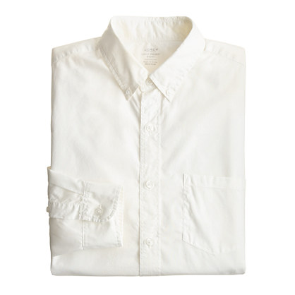 Secret Wash lightweight shirt in white