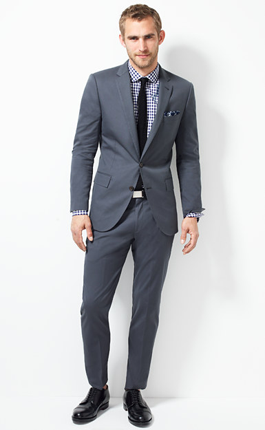 Ludlow suit jacket with double vent in Italian cotton piqué