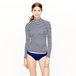 Stripe rash guard