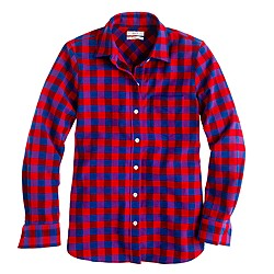 Boy shirt in poppy plaid