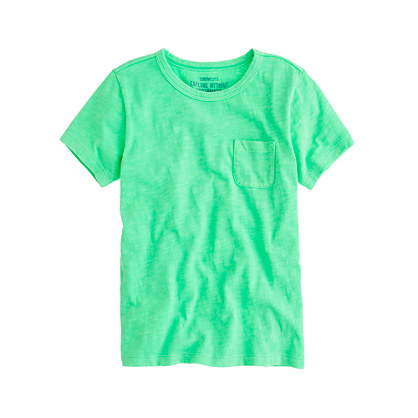 Boys' slub pocket tee