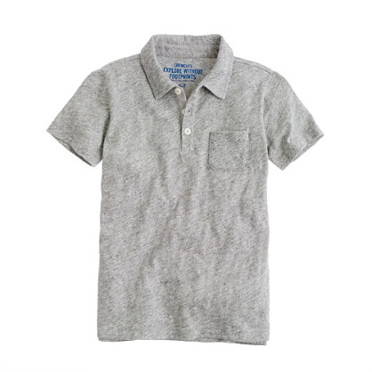 Boys' jaspé pocket polo