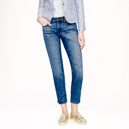 Cropped vintage straight jean in Walloon wash