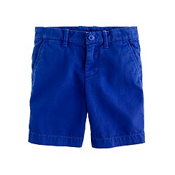 Boys' Stanton short in garment-dyed chino