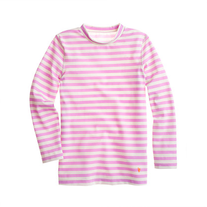 Girls' rash guard in stripe
