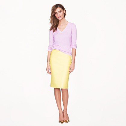 No. 2 pencil skirt in double-serge cotton