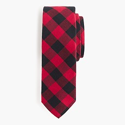 Buffalo check cotton tie