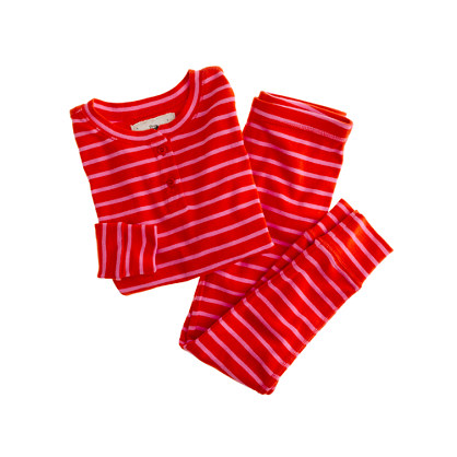 Girls' long-sleeve sleep set in stripe