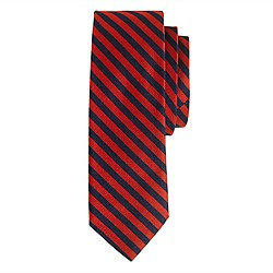 Silk tie in papaya stripe